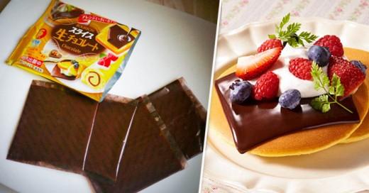 Ahora el chocolate en deliciosas rebanadas estilo queso americano