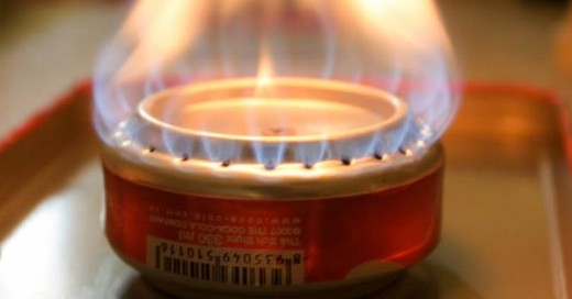 Una manera muy buena y facil de hacer una cocina con una lata de refresco