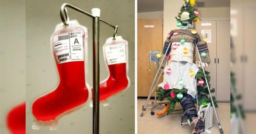 Espíritu navideño en los hospitales