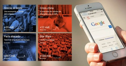 Llegó el momento de resumir todo lo que ha sucedido en el mundo durante este 2015 y para muestra, Google sacó su más reciente año en búsquedas según los usuarios de su plataforma a nivel global.