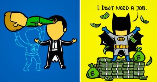 Chow Hon Lam, nos muestra el lado más ordinario y común de los íconos de Marvel y DC Comics