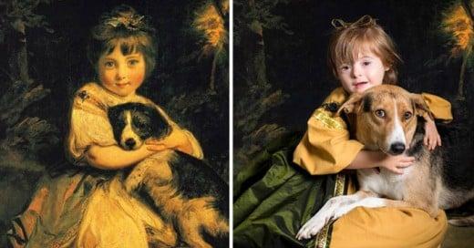 Estos niños con Down recrean las obras maestras del arte