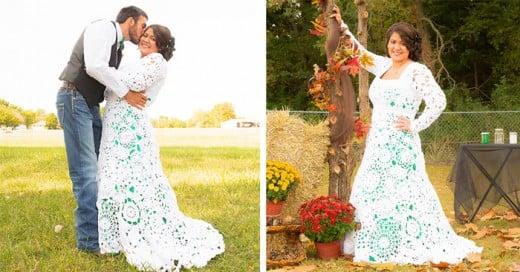 Novia Prepara en 8 meses su vestido de boda
