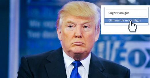 ¡Buenas noticias! Facebook te permite encontrar y borrar a tus amigos que siguen a Donald Trump