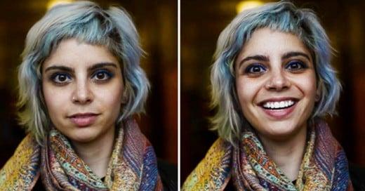 Interesante propuesta de captar la reaccion de la gente cuando se le dice que es guapa