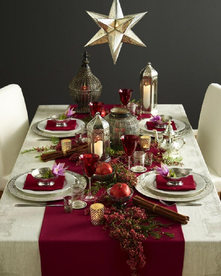 Ideas para decorar tu mesa esta navidad - Adornos navidenos de mesa ...