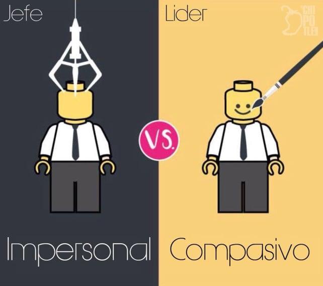 un jefe es impersonal y un líder es compasivo