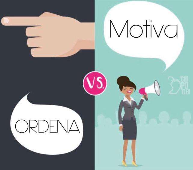un jefe ordena y un líder motiva