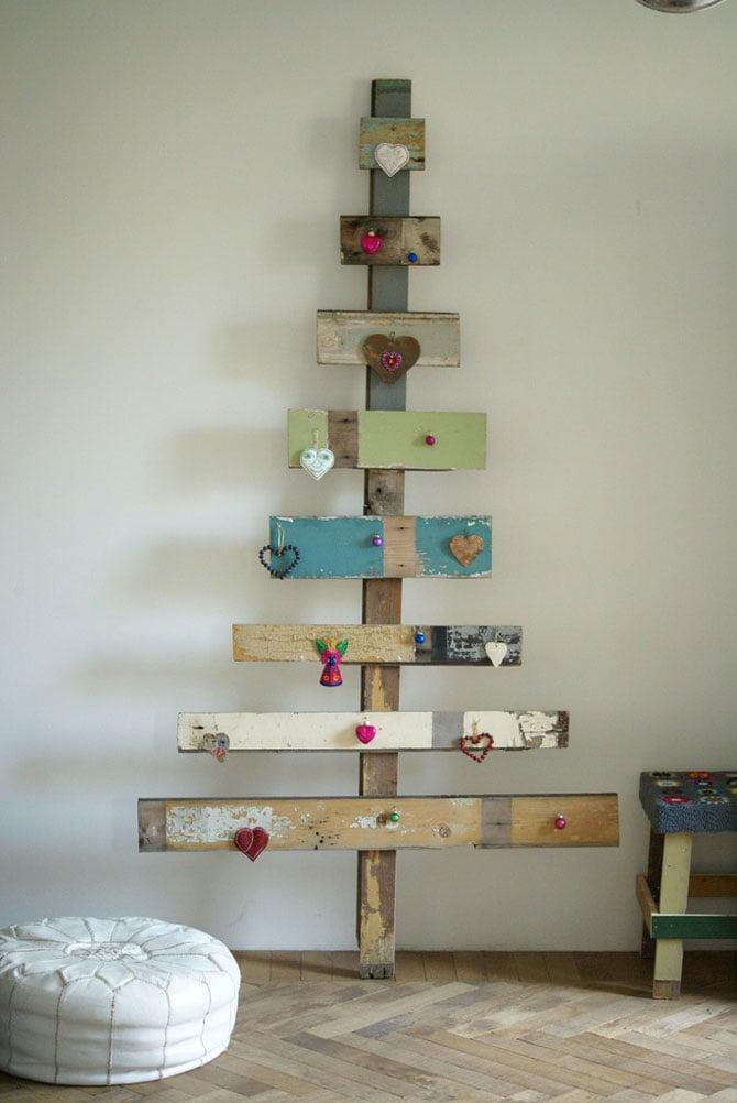 tablas decoradas en forma de rbol de navidad