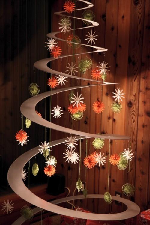 espiral en forma de árbol de navidad