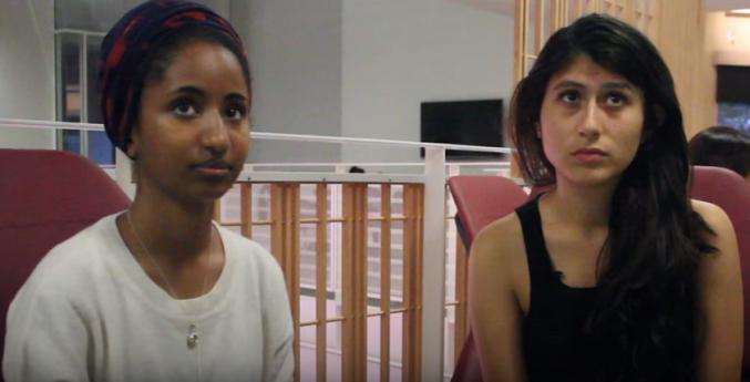 Chicas protagonistas del video de las similitudes entre el idioma árabe y el español