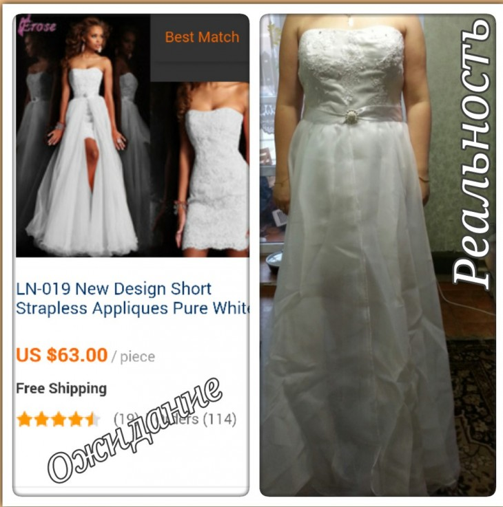 Expectativa Realidad. Vestido de novia comprado en internet. China