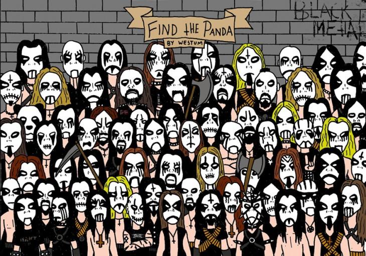 Encuentra al oso panda escondido entre esta banda de Heavy Metal