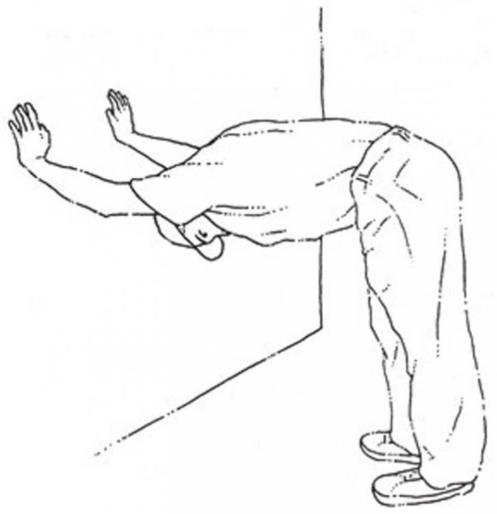 ilustración que muestra el estiramiento total de espalda