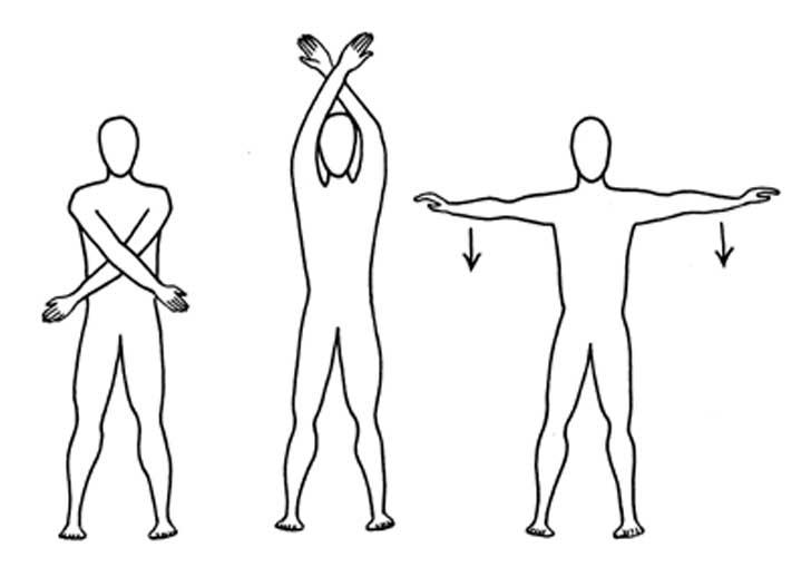 ilustración que muestra un cuerpo estirándose en diferentes posiciones