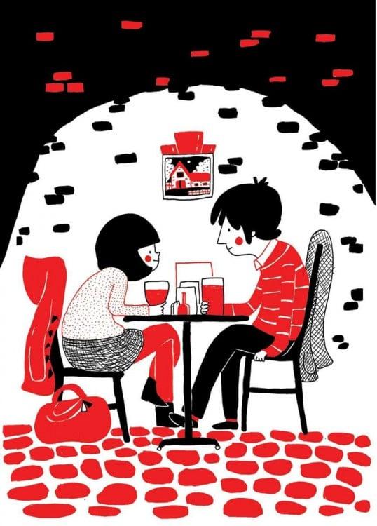 pareja en un lugar romántico