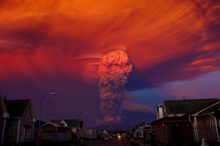 Volcan calbuco en Chile