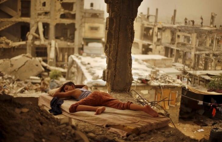 Tormenta de arena en gaza