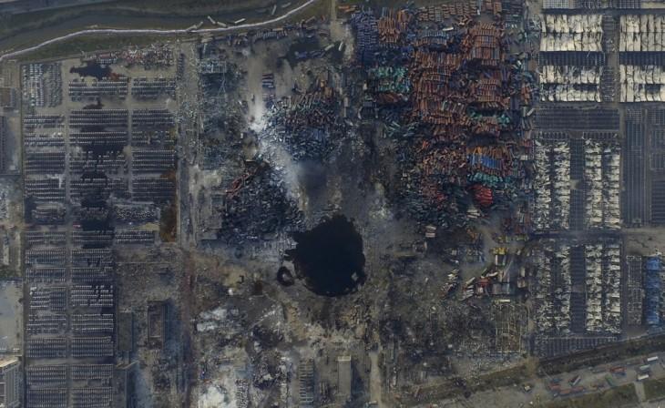 Tianjin china explosión donde mueren 165 personas