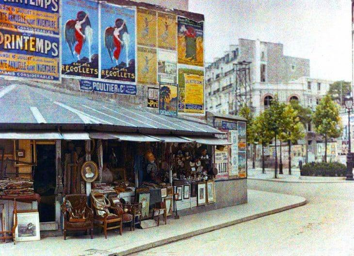 Tienda de artículos en París en 1914