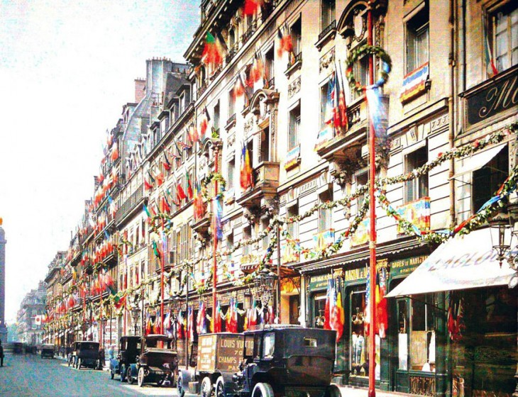 Decoración de los edificios de París a principios del siglo XX