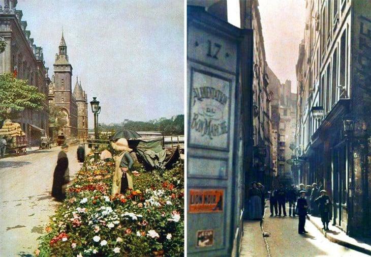fotografías de las calles de París en 1914