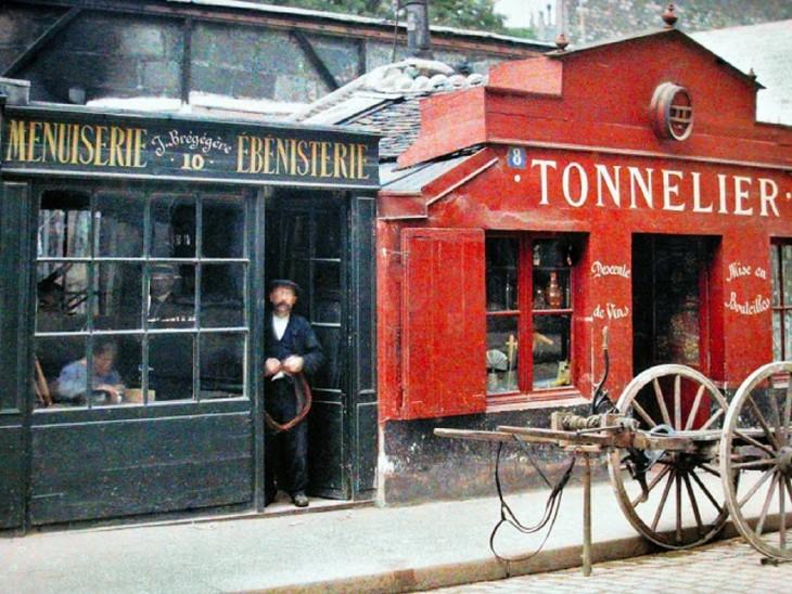 Decoración de los negocios en París a principios del siglo XX