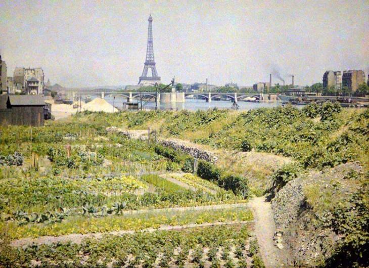 fotografía de París en 1914