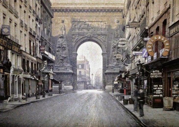 Arquitectura de las calles de París en 1914