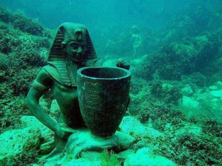 Palacio de Cleopatra es una ciudad sumergida en Egipto