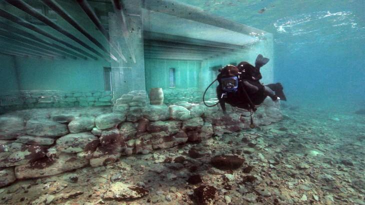 Pavlopetri ciudad sumergida a la costa sur de Laconia, Grecia