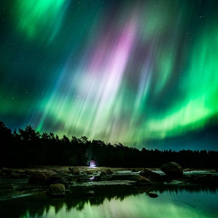 Foto del cielo de Finlandia por parte de mikko lagerstedt