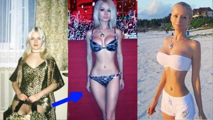 evolución de Valeria Lukyanova en la 'barbie humana'