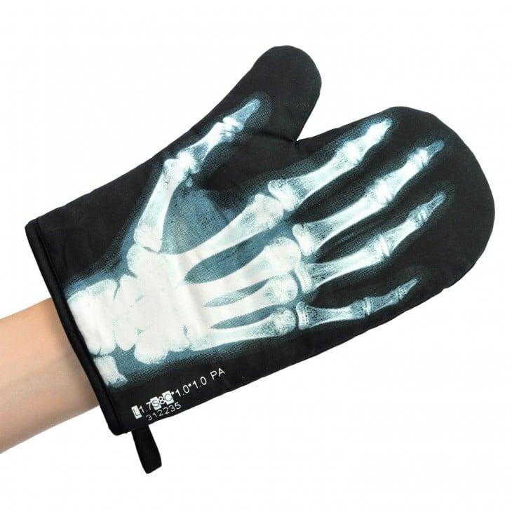 guante de horno en forma de rayos X