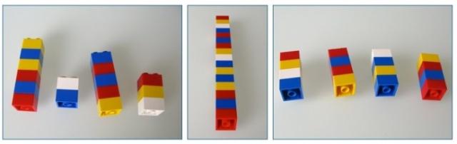 Cómo explicar la media aritmética con legos