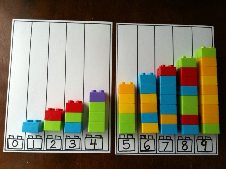Cómo sumar con legos