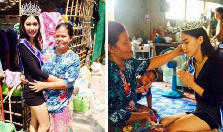 Madre de la miss tailandia 2015 orgullosa de ella