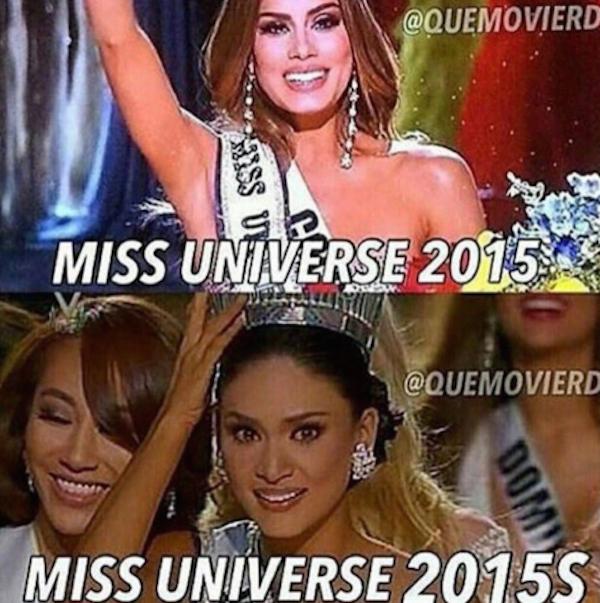 Meme de la miss universo 2015 y miss universo 2015 s