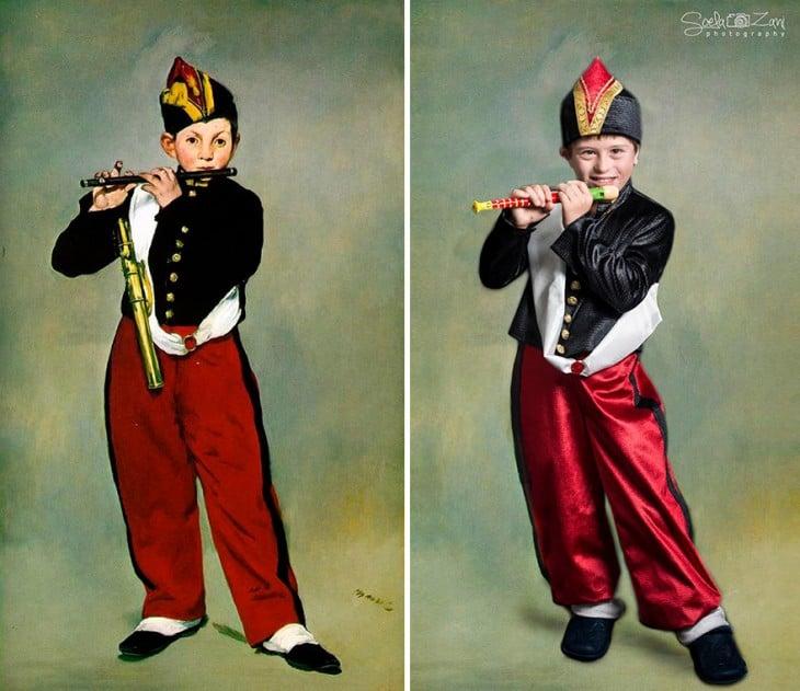 Niños con Síndrome de Down recrean pinturas famosas para demostrar que todos somos una obra de arte