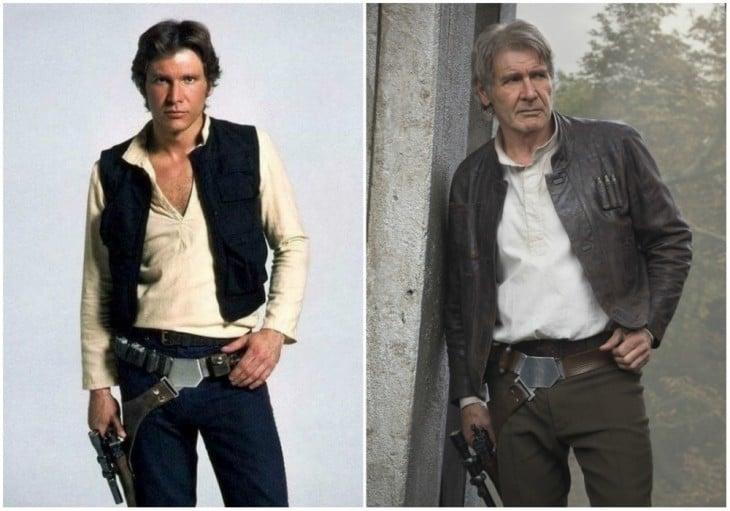 Han Solo — Harrison Ford, 1980 y 2015