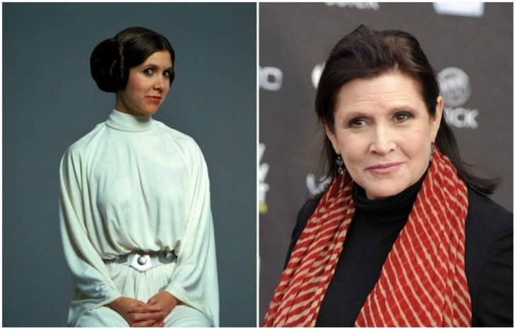 Princesa Leia Organa — Carrie Fisher, 1977 y 2015