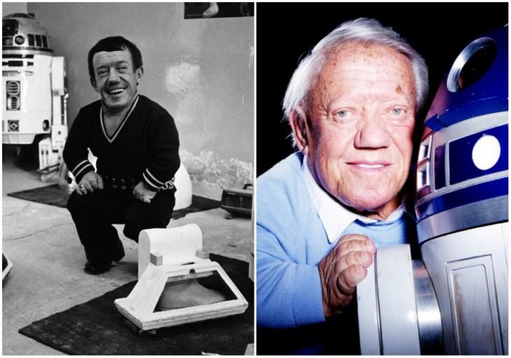 R2-D2 — Kenny Baker, 1977 y 2015