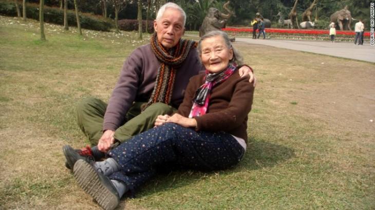 Cao Yuehua y Wang Deyi, pareja china que celebró sus 70 años de bodas