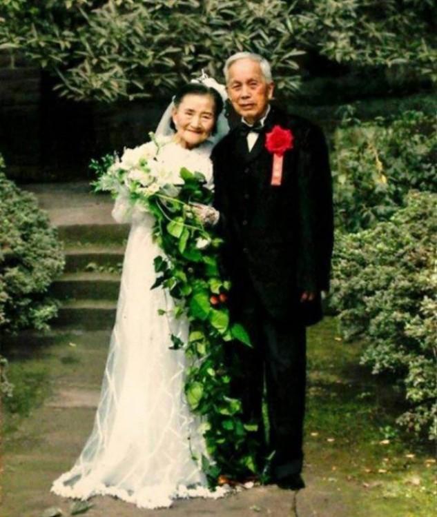 Pareja en China Cao Yuehua y Wang Deyi en el 2015
