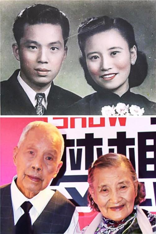 Fotos de una pareja en china que celebró sus 70 años de casados