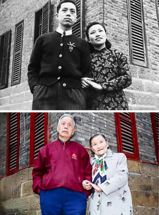 Pareja de esposos en China recrea sus fotos de bodas