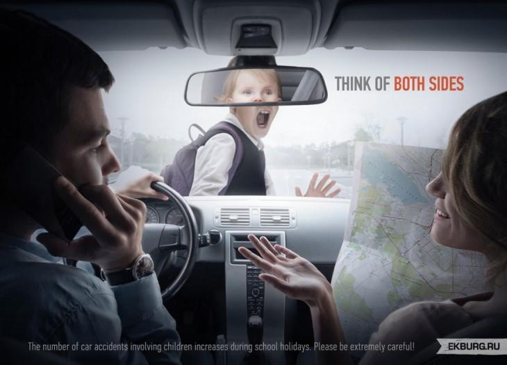 Publicidad para no contestar el móvil mientra vas conduciendo