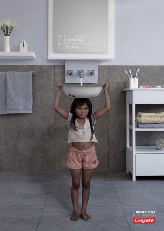 Publicidad para conscientizar en cuanto al uso del agua