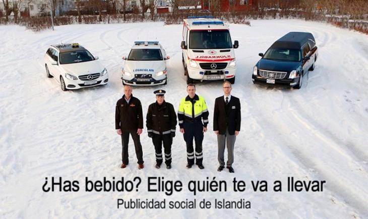 Policía, taxi, ambulancia y un hombre de una fuenraria