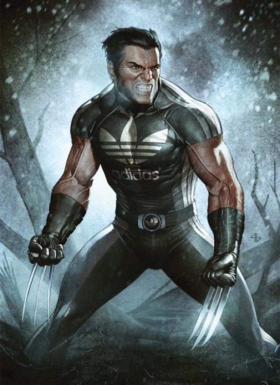 Wolverine patrocinado por la marca Adidas
